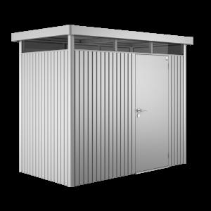 Gerätehaus HighLine H1 silber-metallic